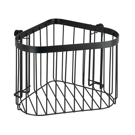 Black Corner Wire Shower Basket