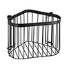 Black Corner Wire Shower Basket profile small image view 1