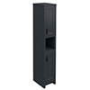 Chatsworth Traditional Graphite Tall Cabinet with Matt Black Handles profile small image view 1