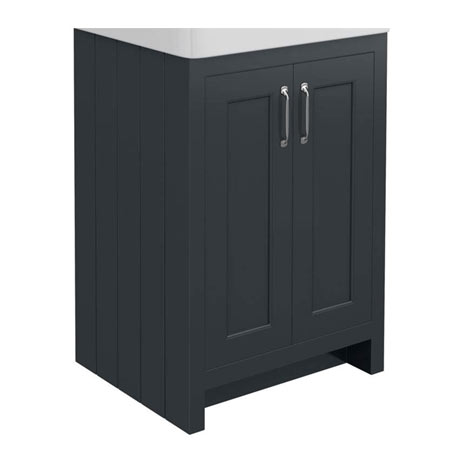 Chatsworth 560mm Graphite Vanity Cabinet (excluding Basin)