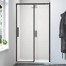Merlyn Black Sliding Shower Door