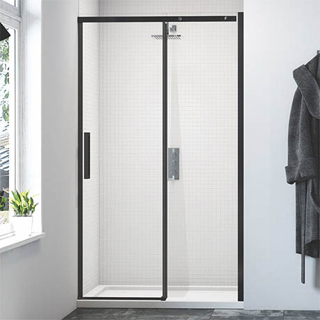 Merlyn Black Sliding Shower Door