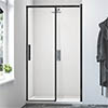 Merlyn Black Sliding Shower Door profile small image view 1