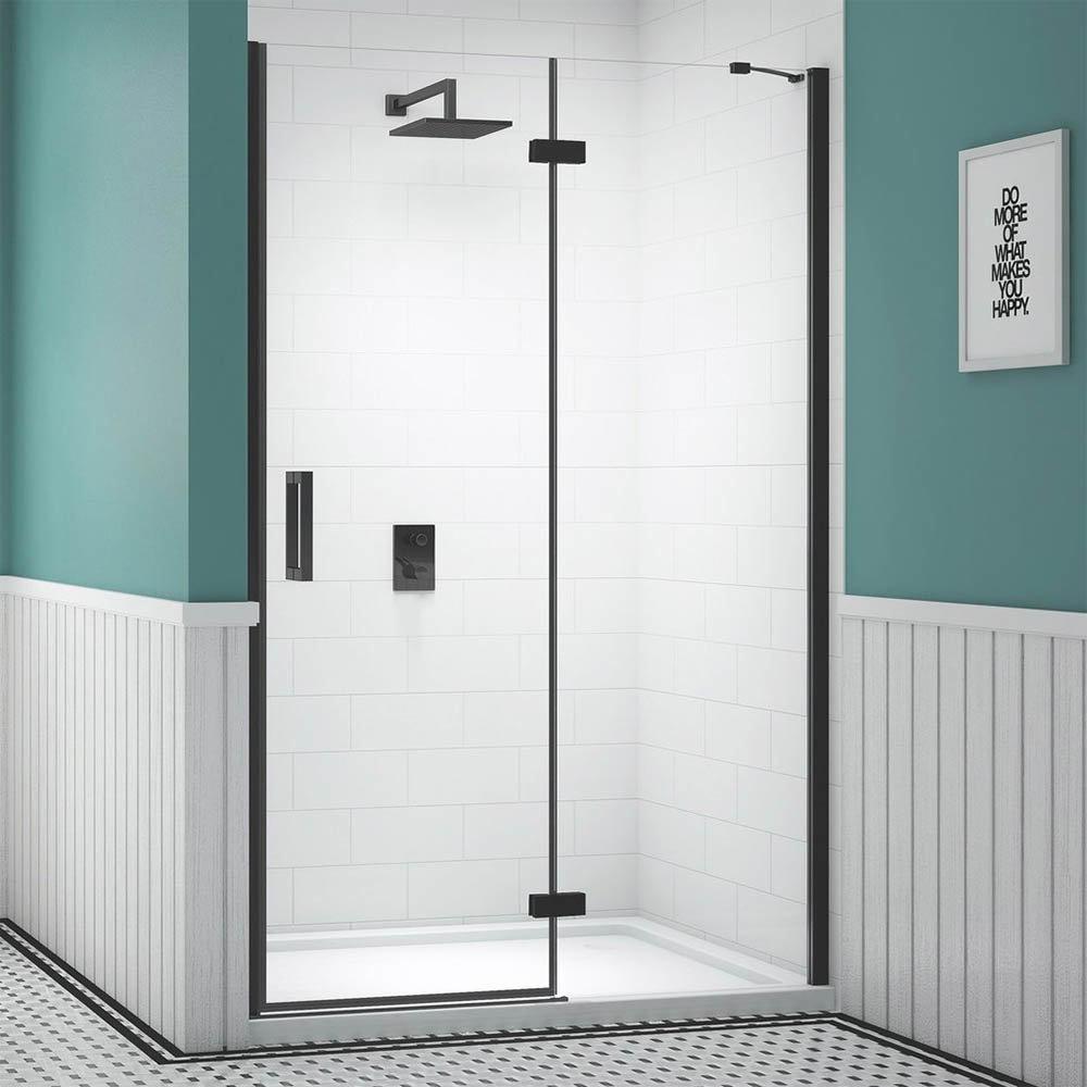 Merlyn Black Hinge & Inline Shower Door