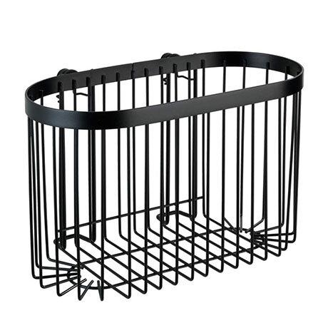 Black Large Wire Shower Basket