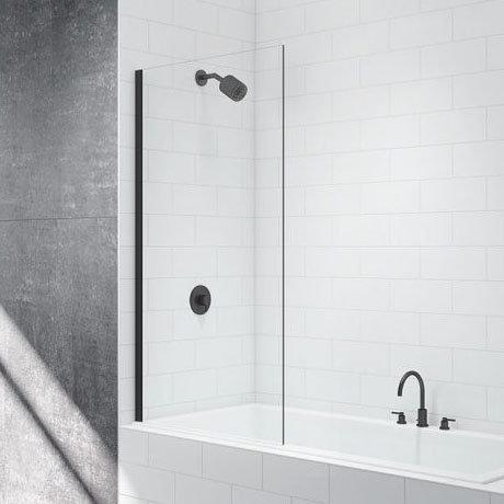 Merlyn Black Fixed Square Bath Screen