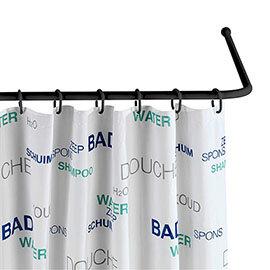 Black Universal Shower Curtain Rod