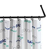 Black Universal Shower Curtain Rod profile small image view 1