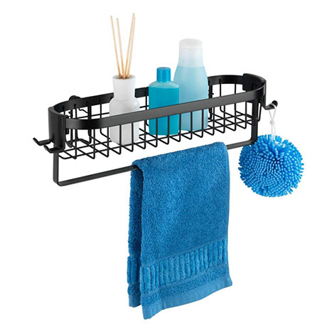 Black Wire Shower Caddy Shelf