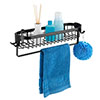 Black Wire Shower Caddy Shelf profile small image view 1