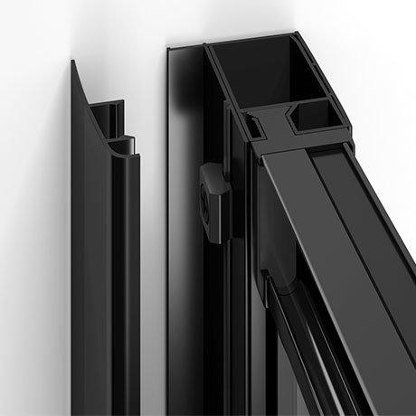 Turin Matt Black Shower Door Concealed Screw Cover Profiles