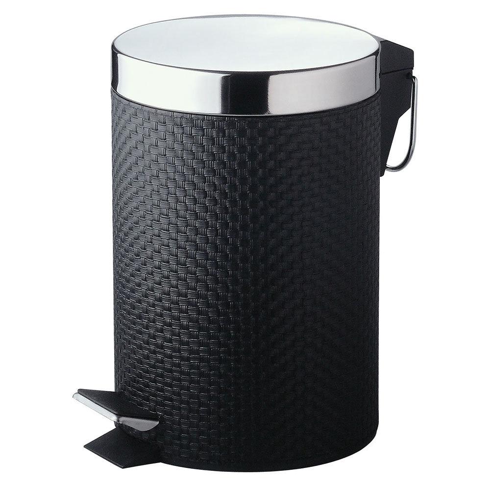 Black Weave PVC 3 Litre Pedal Bin