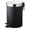 Black Weave PVC 3 Litre Pedal Bin profile small image view 1