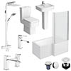 Bliss L-Shaped 1500 Complete Bathroom Package profile small image view 1