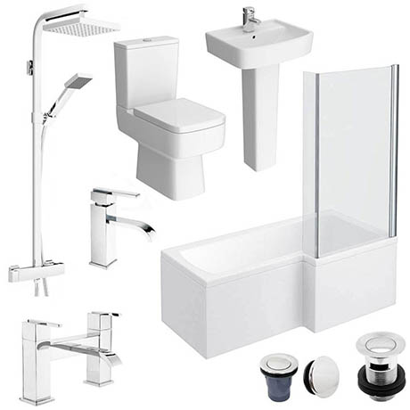 Bliss L-Shaped 1600 Complete Bathroom Package