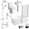 Bliss L-Shaped 1600 Complete Bathroom Package profile small image view 1