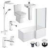 Bliss L-Shaped 1700 Complete Bathroom Package profile small image view 1