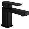 Turin Modern Black Basin Mono Mixer Tap - BLT7132 profile small image view 1