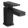 Turin Modern Black Basin Mono Mixer Tap profile small image view 1