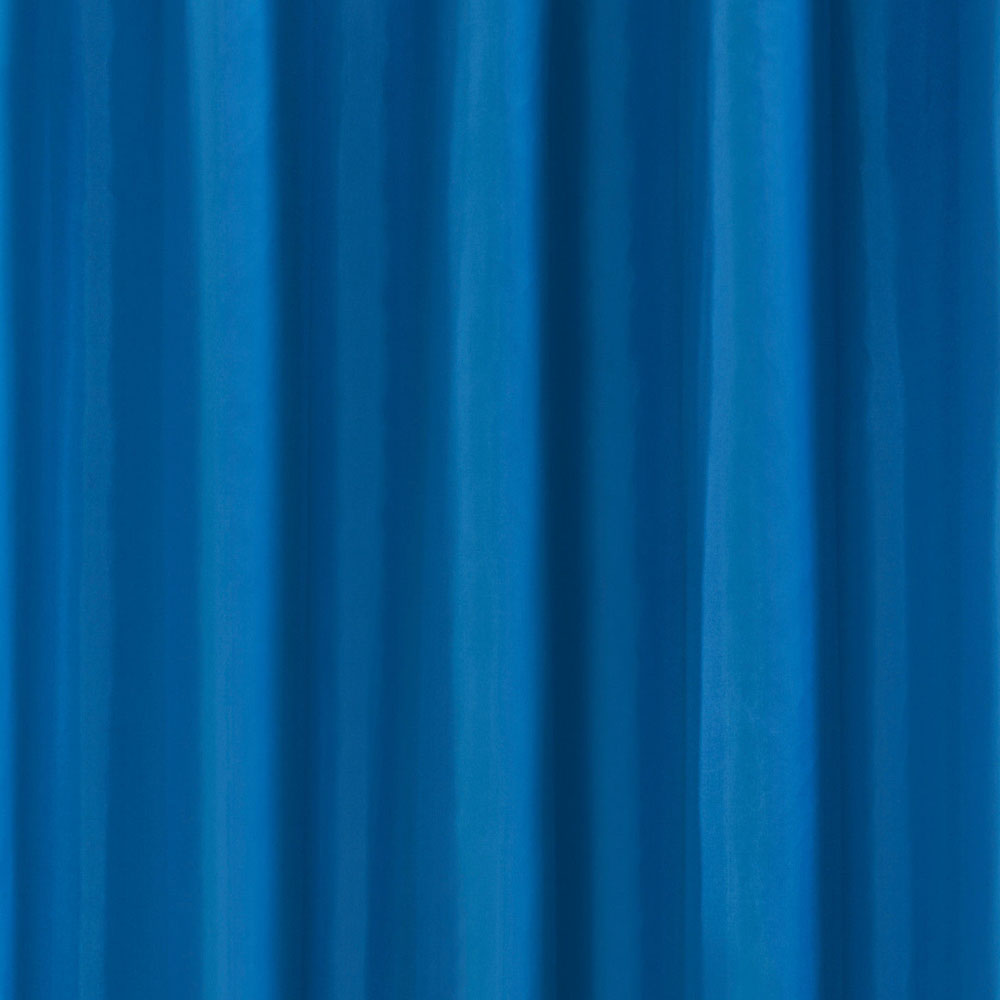 Blue W1800 x H1800mm Polyester Shower Curtain