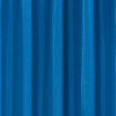 Blue H1800 x W1800mm Polyester Shower Curtain