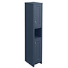 Chatsworth Traditional Blue Tall Cabinet profile small image view 1