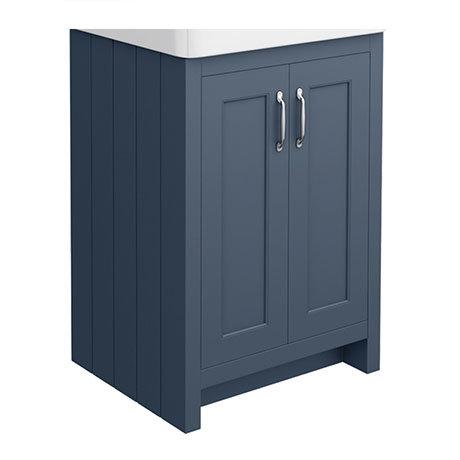 Chatsworth 560mm Blue Vanity Cabinet (excluding Basin)
