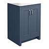 Chatsworth 560mm Blue Vanity Cabinet (excluding Basin) profile small image view 1