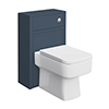 Chatsworth 500mm Traditional Blue Toilet Unit Only profile small image view 1