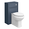 Chatsworth Traditional 500mm Blue Toilet Unit + Pan profile small image view 1