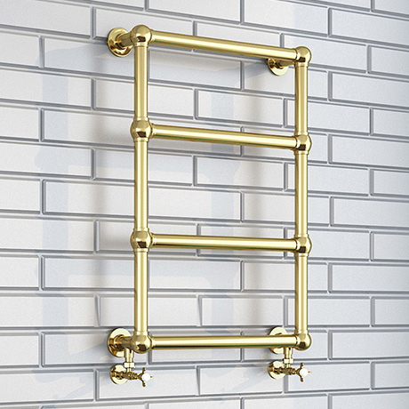Bloomsbury Traditional Vintage Gold 748 x 498 Wall Mounted Towel Rail