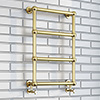 Bloomsbury Traditional Vintage Gold 748 x 498 Wall Mounted Towel Rail profile small image view 1