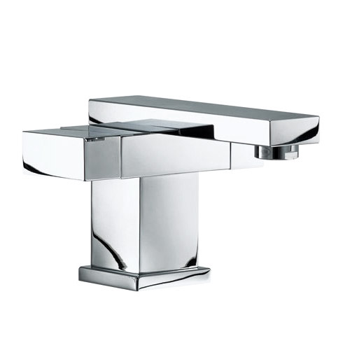 Mayfair Blox Mono Basin Mixer Tap with Click Clack Waste - BLX009 Large Image