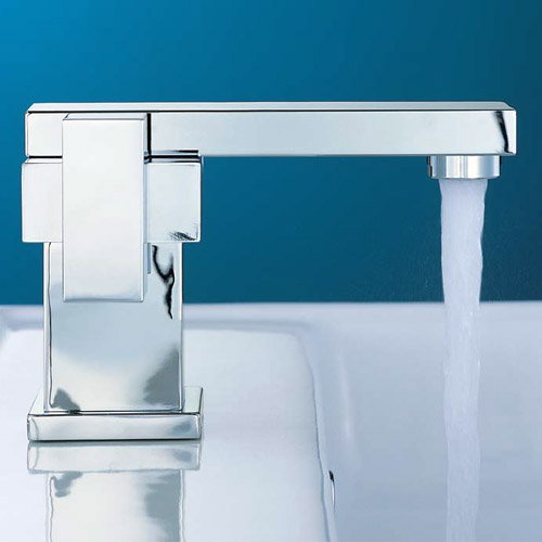 Mayfair Blox Mono Basin Mixer Tap with Click Clack Waste - BLX009 Profile Large Image