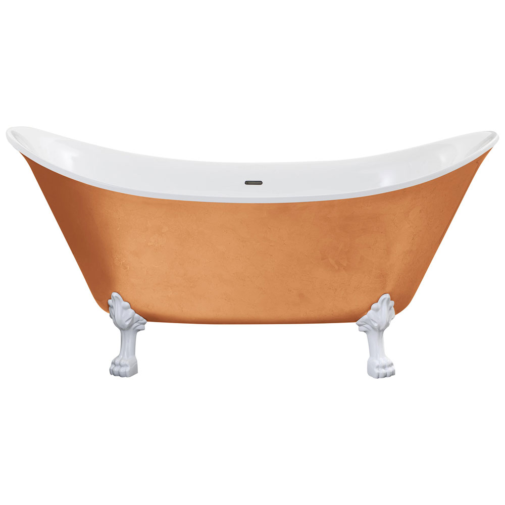 Heritage Lyddington Freestanding Acrylic Bath (1730 x 750mm) with Feet - Copper Effect Large Image