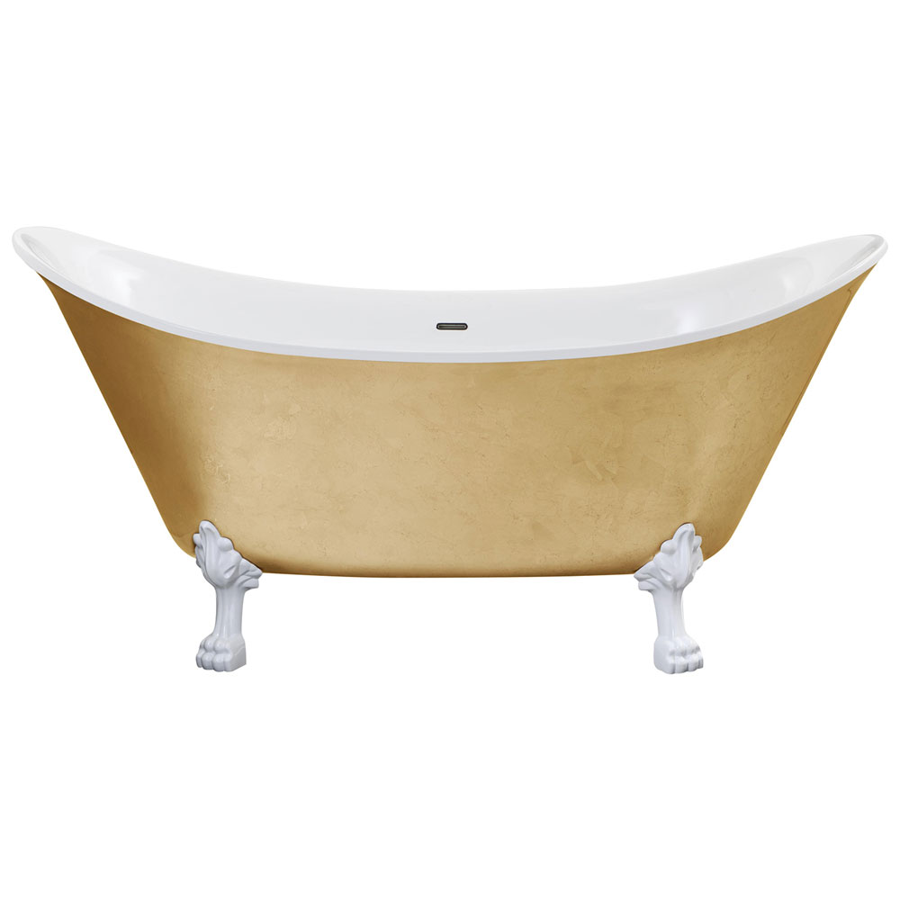 Heritage Lyddington Freestanding Acrylic Bath (1730 x 750mm) with Feet - Gold Effect Large Image