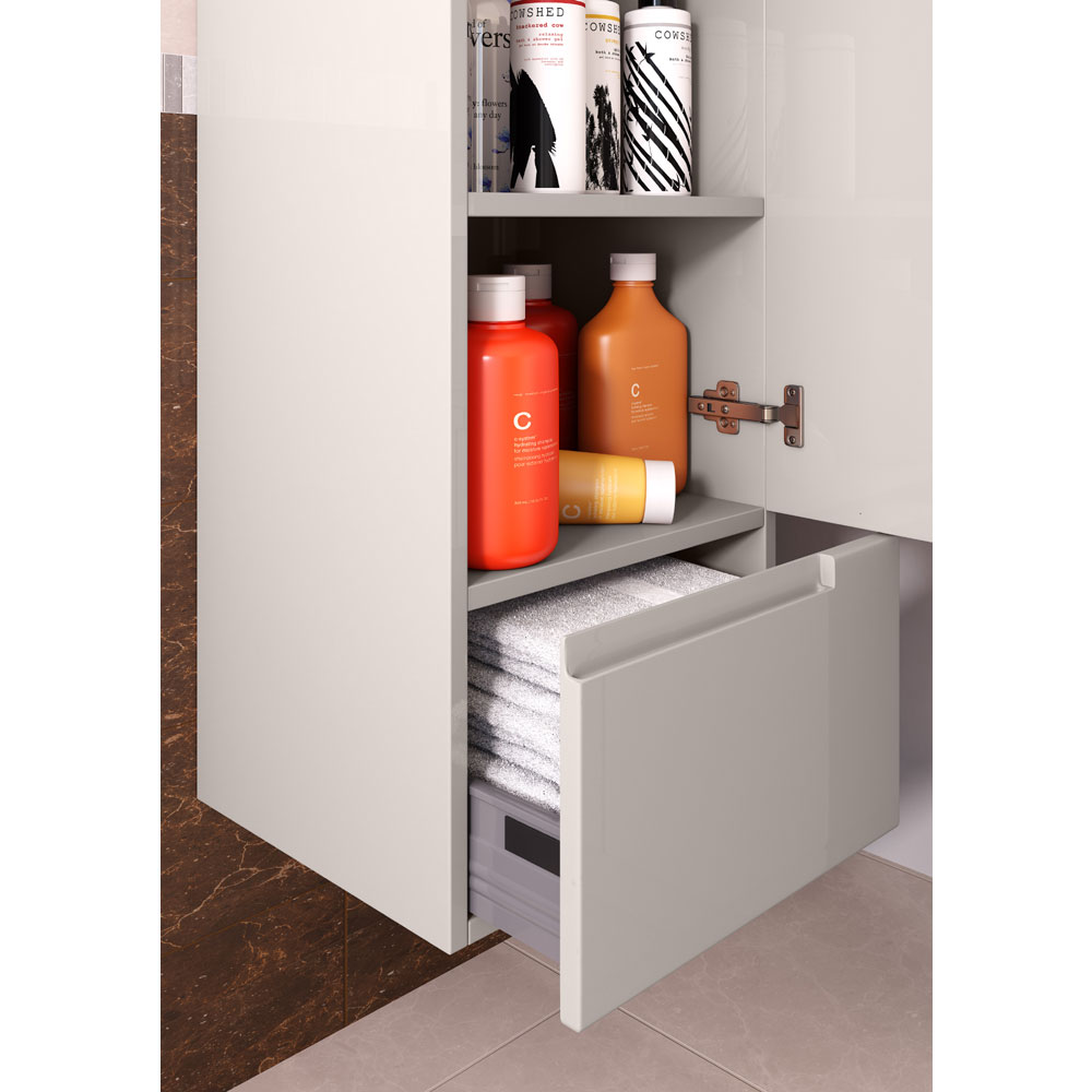 Urban 400mm Wall Hung Tall Unit - Cashmere profile large image view 2