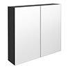 Brooklyn 800mm Gloss Grey Bathroom Mirror Cabinet - 2 Door profile small image view 1