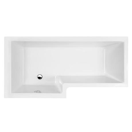 1700mm luxury l shape square bath white right hand for Chatsworth bathroom faucet parts