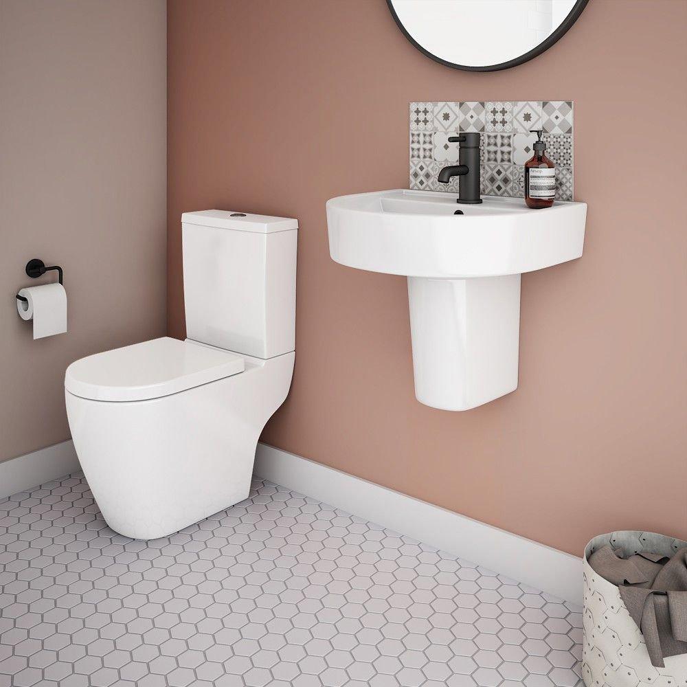 Bianco Modern Cloakroom Suite