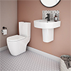Bianco Modern Cloakroom Suite profile small image view 1