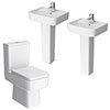 Brooklyn Modern Double Basin En-Suite Bathroom profile small image view 1