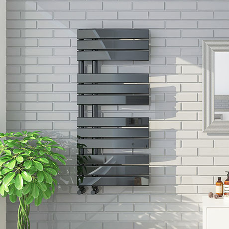 The Delta Black Nickel Designer Heated Towel Rail