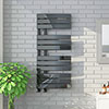 Delta Black Nickel Designer Heated Towel Rail 1080 x 550mm profile small image view 1