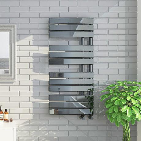 Delta Black Nickel Designer Heated Towel Rail 1080 x 550mm