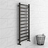 Brooklyn Square 1200 x 500mm Black Nickel Heated Towel Rail profile small image view 1
