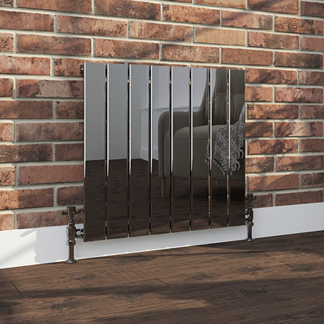 Urban Black Nickel Horizontal H600 x W604mm Radiator - Single Panel