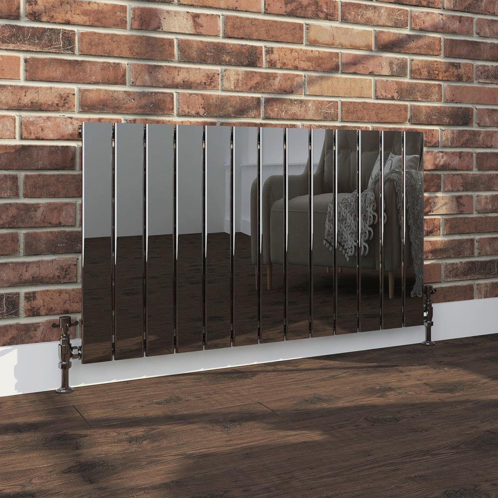 Urban Black Nickel Horizontal H600 x W984mm Radiator - Single Panel