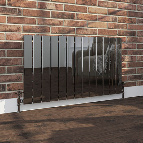 Urban Black Nickel Horizontal H600 x W984mm Radiator - Single Panel