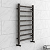 Brooklyn Square 800 x 500mm Black Nickel Heated Towel Rail profile small image view 1